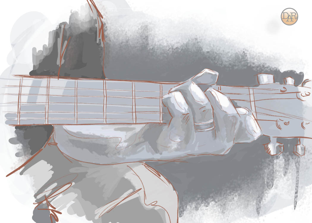 Hand Study with Guitar