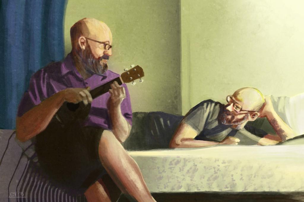 """""""I love that song"""" - digital painting by Eric VanSingel"""